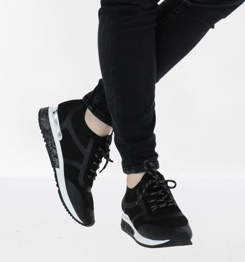 La Strada Chaussures à lacets en Noir en textile (288384)