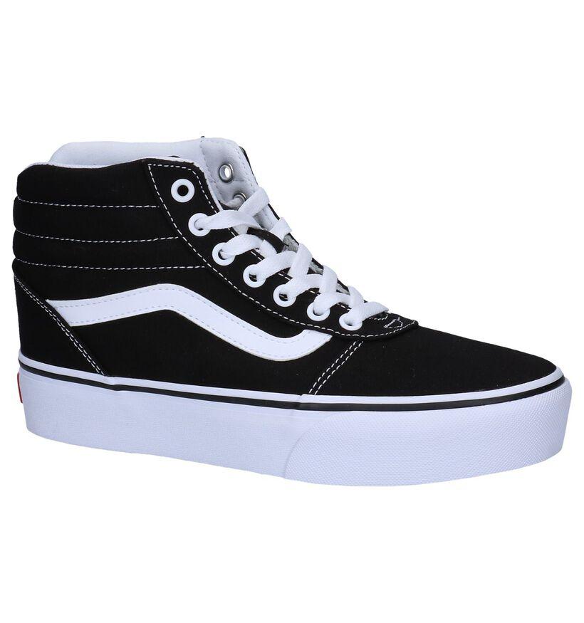 Vans Ward Hi Platform Baskets Skate en Noir en textile (253494)