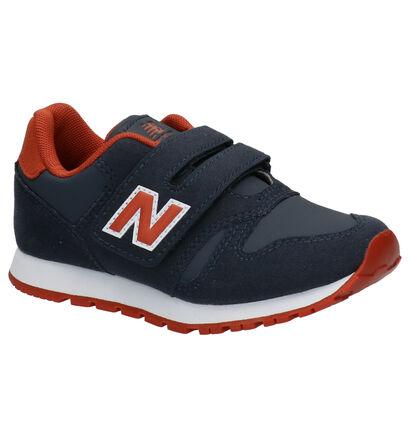 New Balance YV373 Blauwe Sneakers in kunstleer (253356)