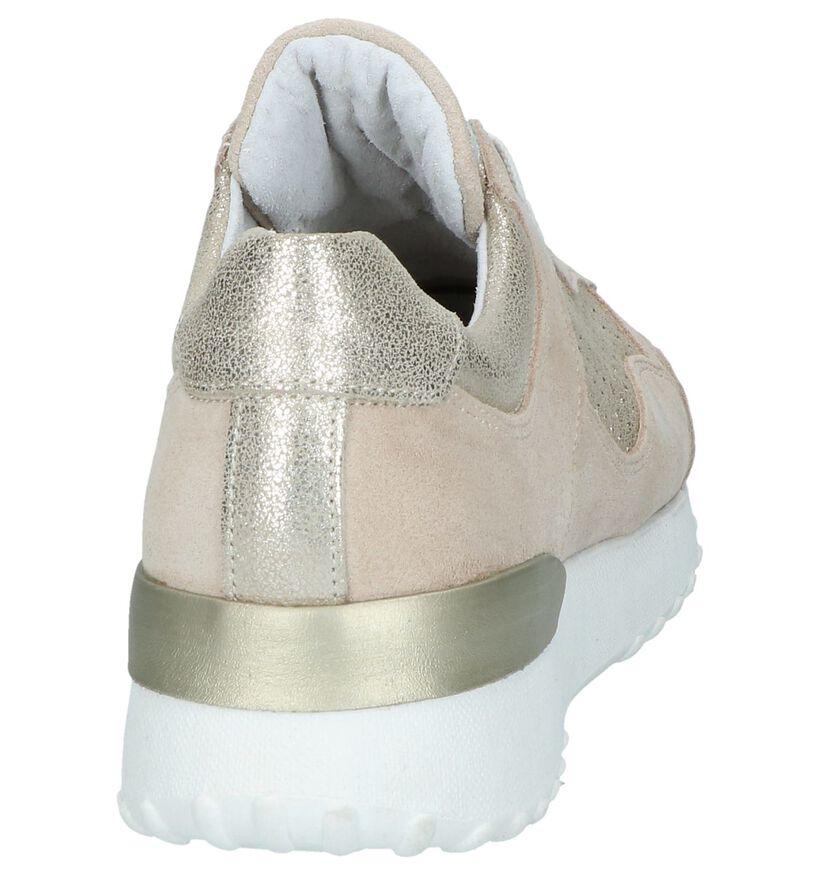 Lichtbeige Lage Sneakers Bullboxer in leer (252861)