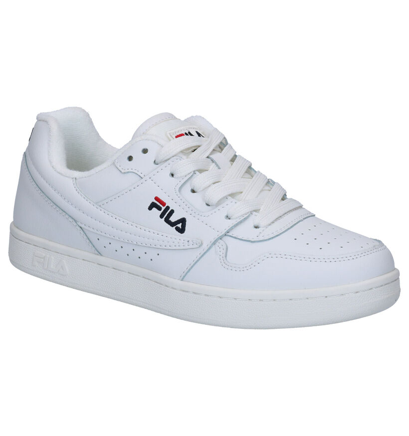Fila Arcade Low Witte Sneakers in kunstleer (274636)