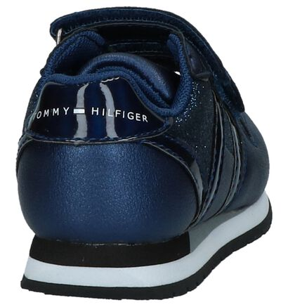 Tommy Hilfiger Baskets basses en Bleu foncé en cuir verni (225254)