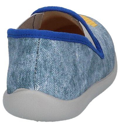 Bellamy Pantoufles fermées en Bleu clair en textile (219947)