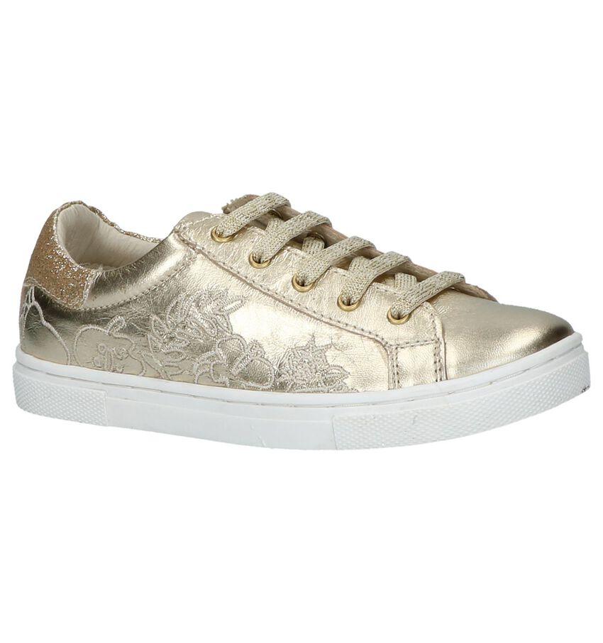 Schoenen met Rits & Veters Goud Milo & Mila