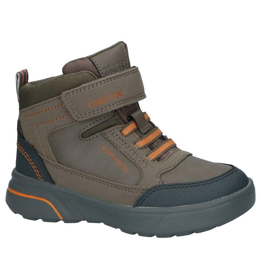 a85e522ca22 Geox Donker Beige Bottines met Velcro Hoge schoenen NU AAN €79.95