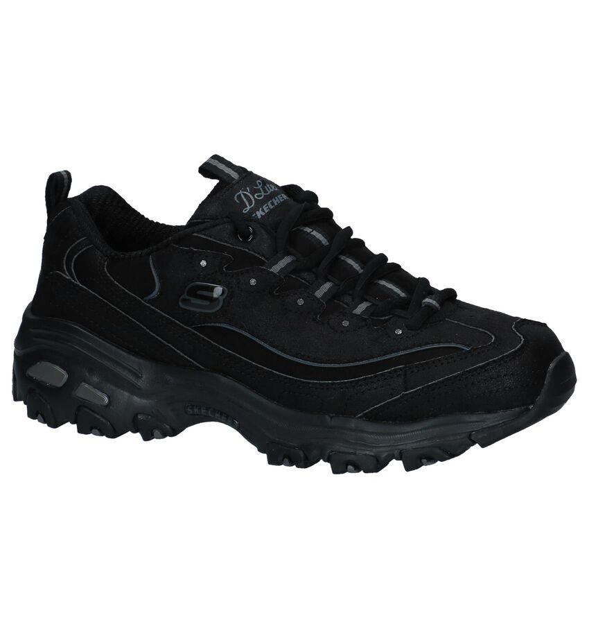 Zwarte Sneakers Skechers D'Lites New School