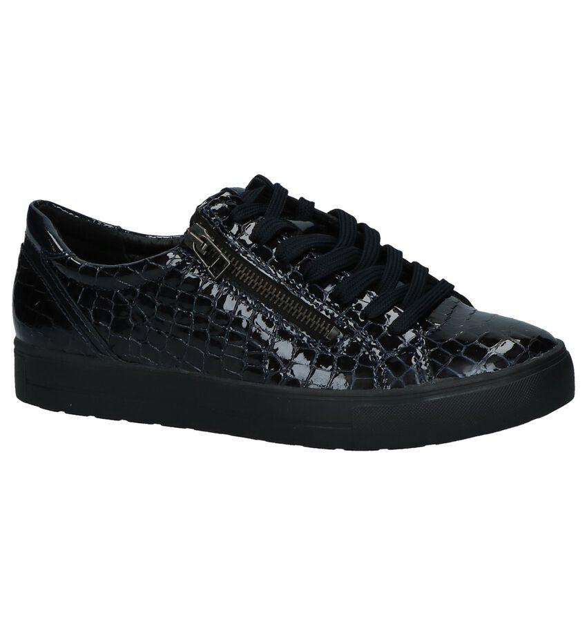 Mirel Kim Donker Blauwe Geklede Sneakers