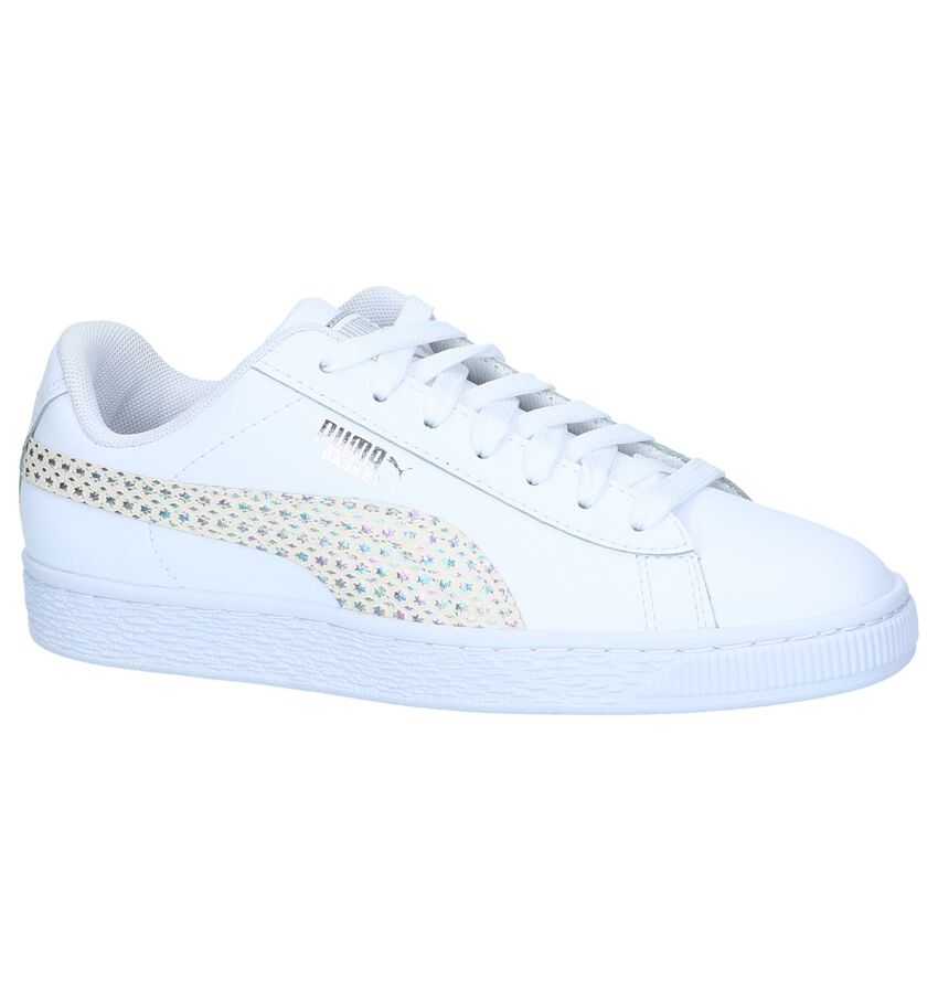 Witte Sneakers Puma Basket Chameleon