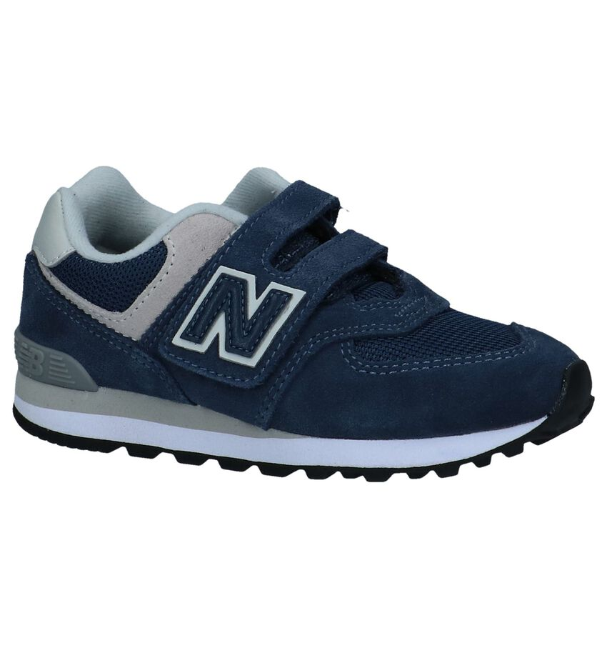 New Balance YV574 Donkerblauwe Sneakers met Velcro