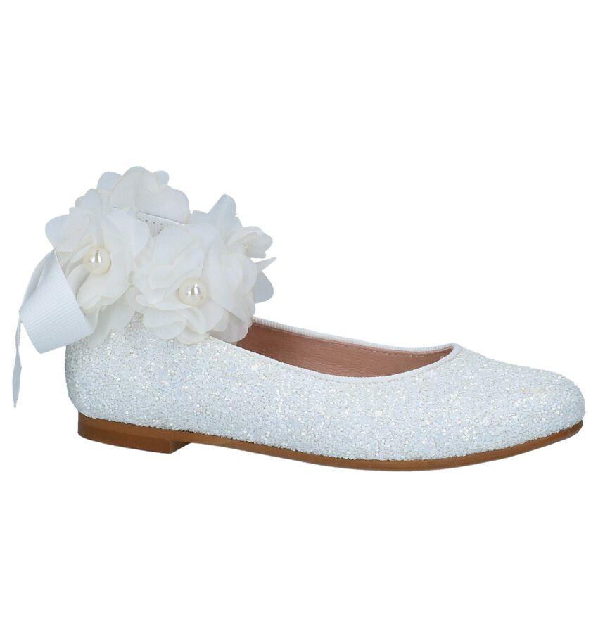 Witte Ballerina's met Afneembaar Bandje Oca-Loca