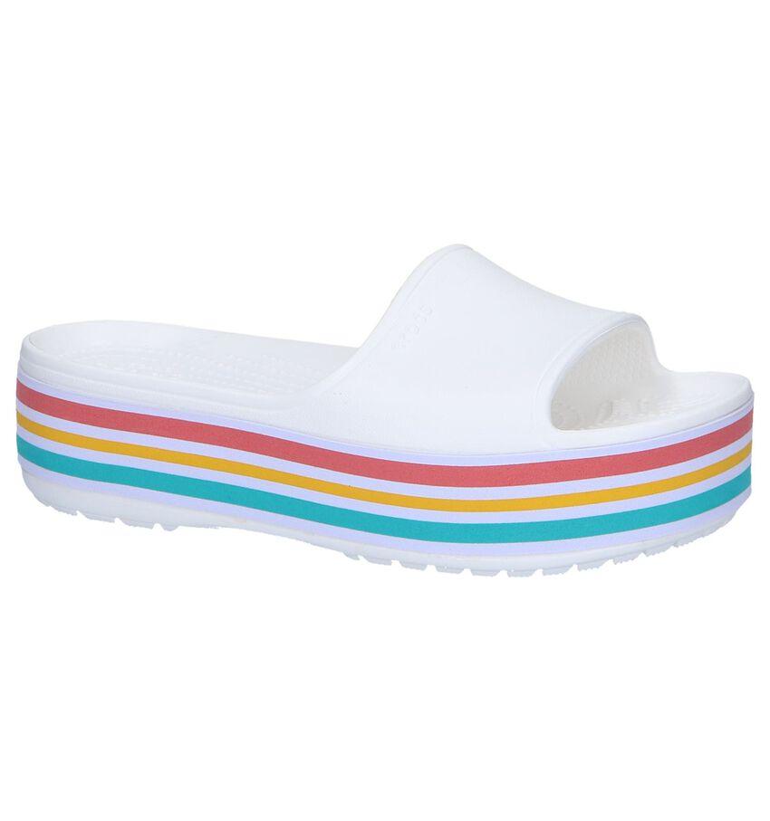Witte Badslippers Crocs Platform BLD Color Slide