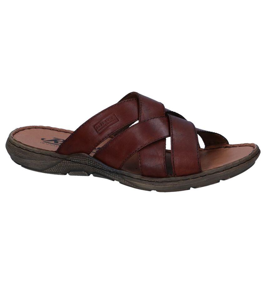 Donkerbruine Geklede Slippers Rieker
