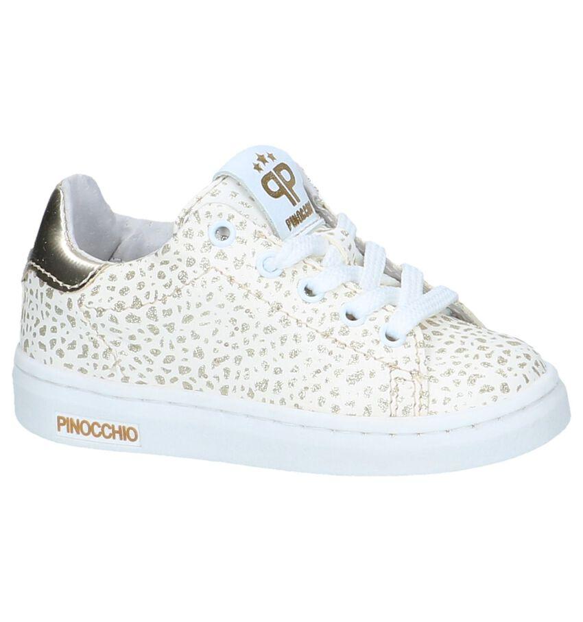 Witte Sneakers met Rits/Veter Pinocchio