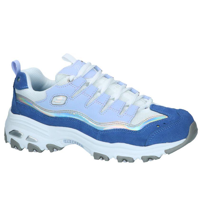 Blauwe Sneakers Skechers D'Lites Grand View