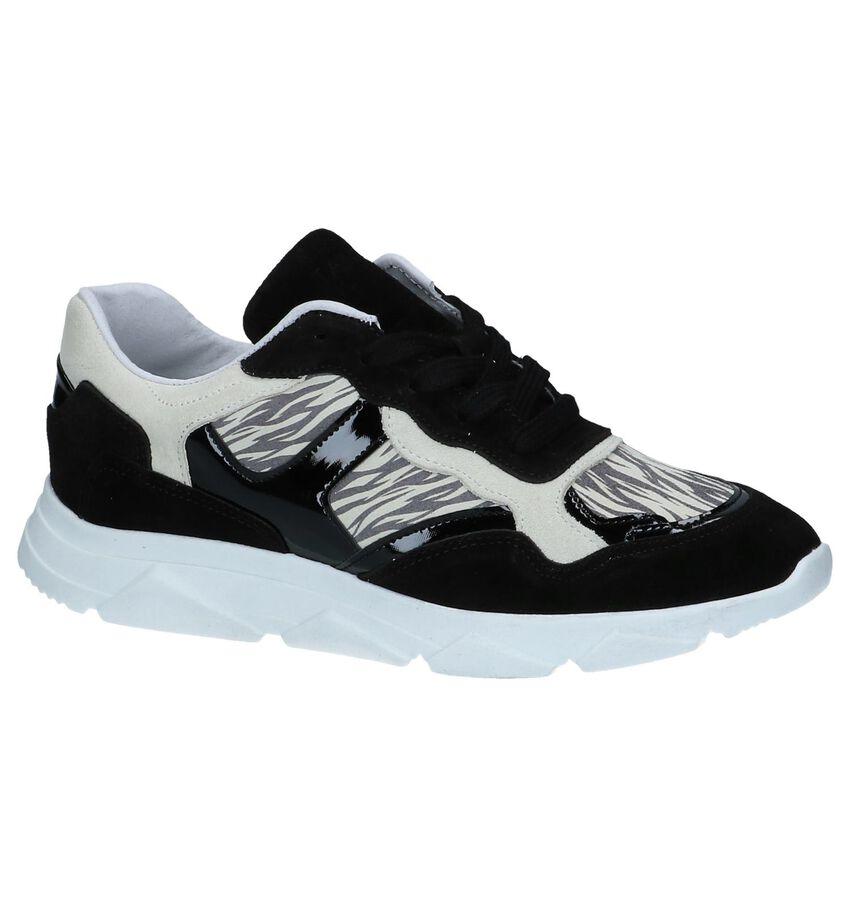 Zwarte Zebraprint Sneakers Tango Kady 1
