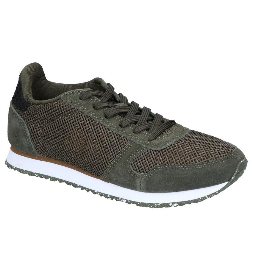 Woden Ydun Mesh Kaki Sneakers