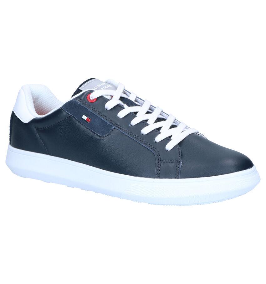 Tommy Hilfiger Essential Leather Blauwe Veterschoenen