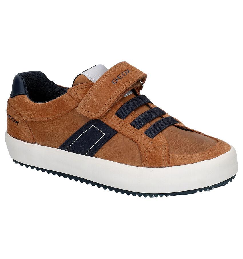 Geox Cognac Lage Sneakers