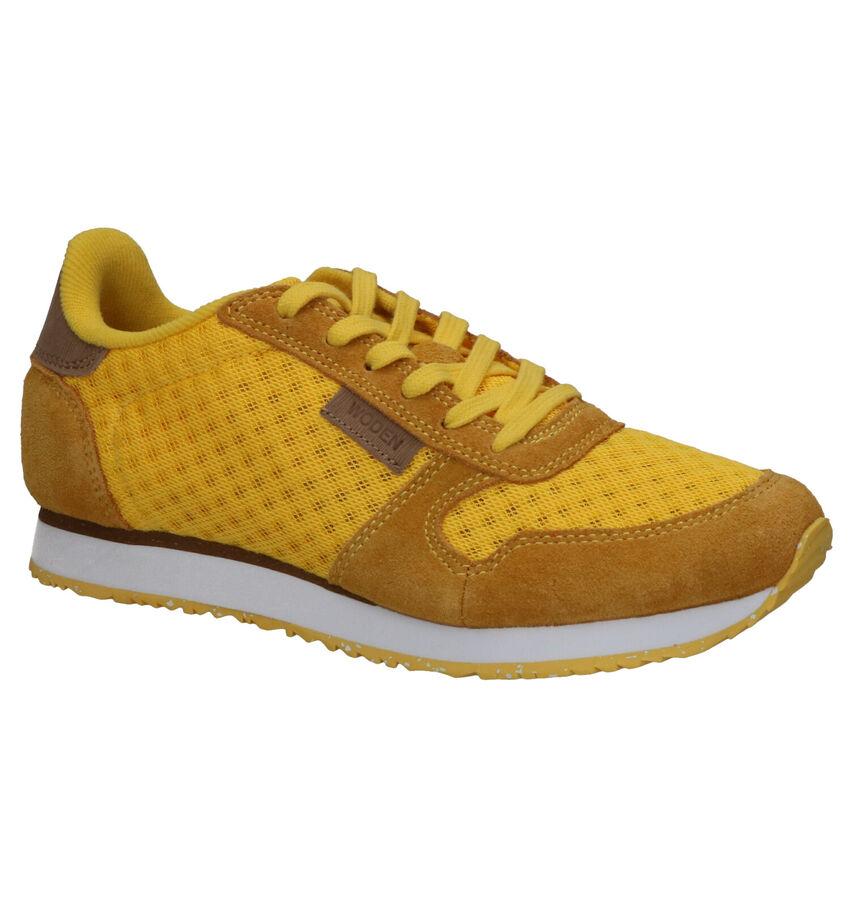 Woden Ydun Mesh Gele Sneakers
