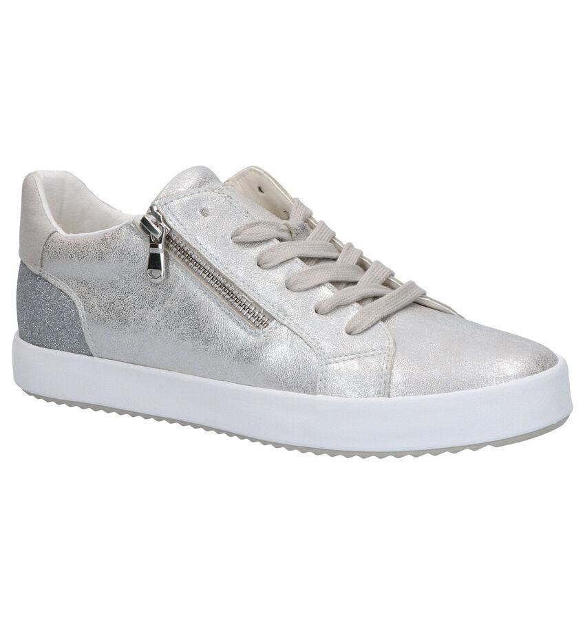 Geox Blomiee Zilveren Veterschoenen