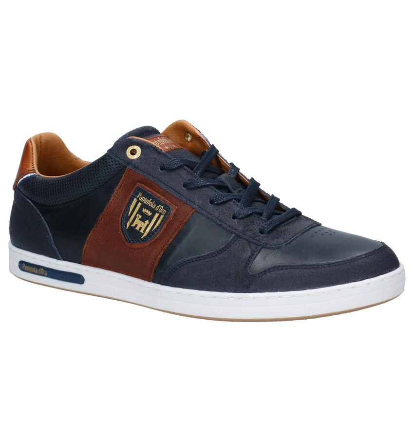 Pantofola d'Oro Milito Low Blauwe Veterschoenen