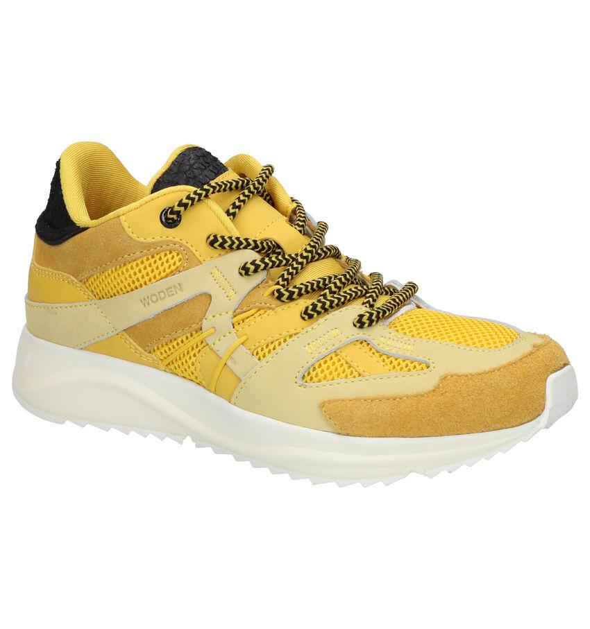 Woden Eve Okergele Sneakers