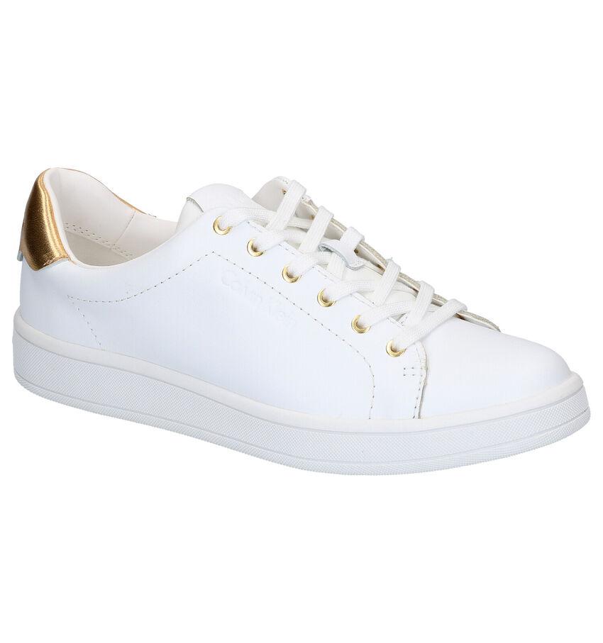 Calvin Klein Solange Witte Veterschoenen