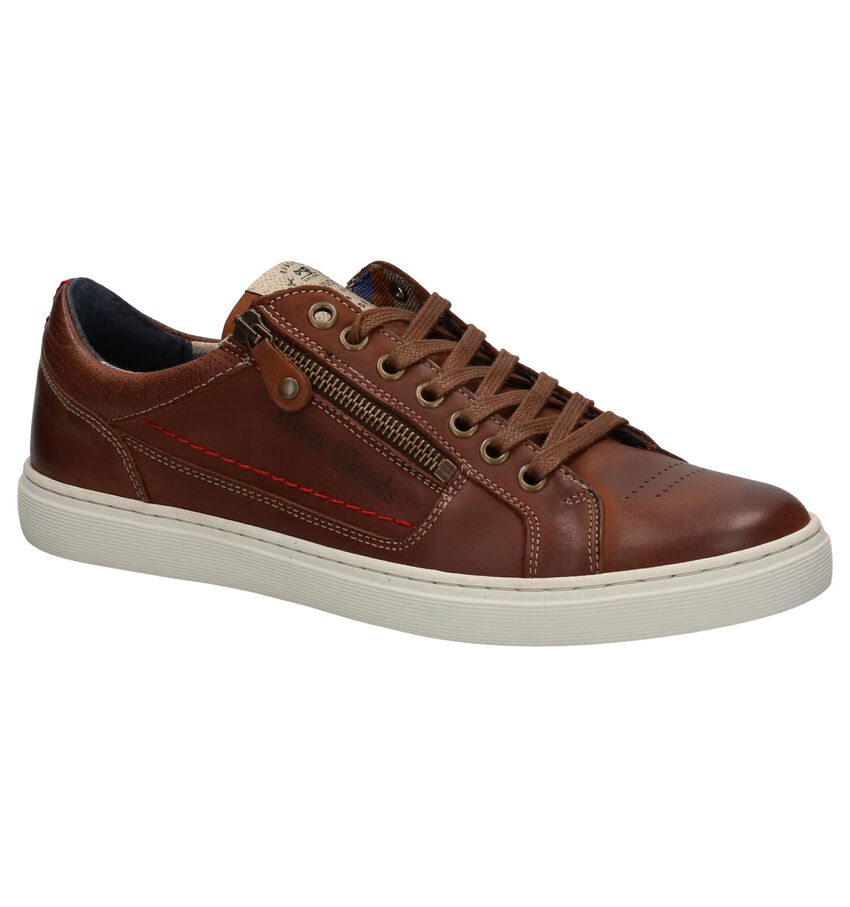 River Woods Boxy Cognac Veterschoenen