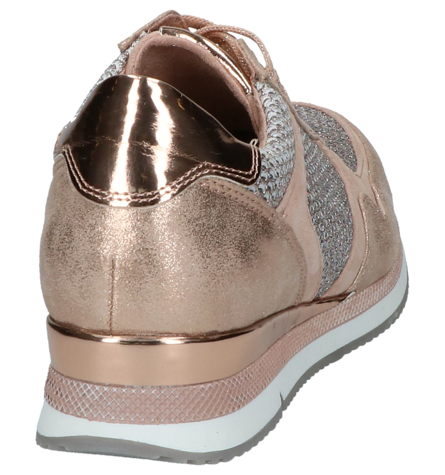 outlet store 04b33 de0e7 Rose Gold Sneakers met Glitters Marco Tozzi | TORFS.BE ...