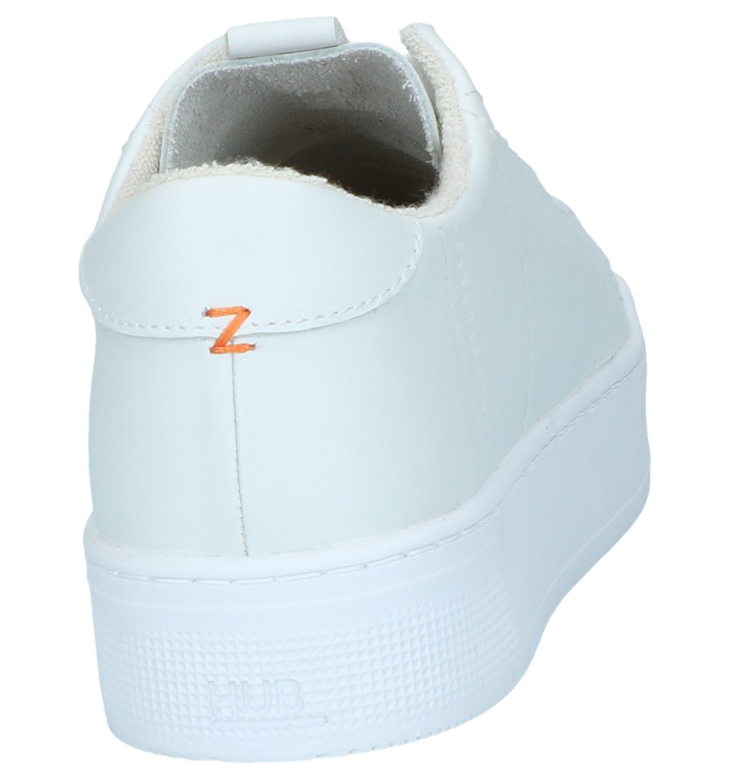 Verzend Gratis Xl be Hub Retour Torfs En Hook Sneakers Witte 7nU6wqSPx