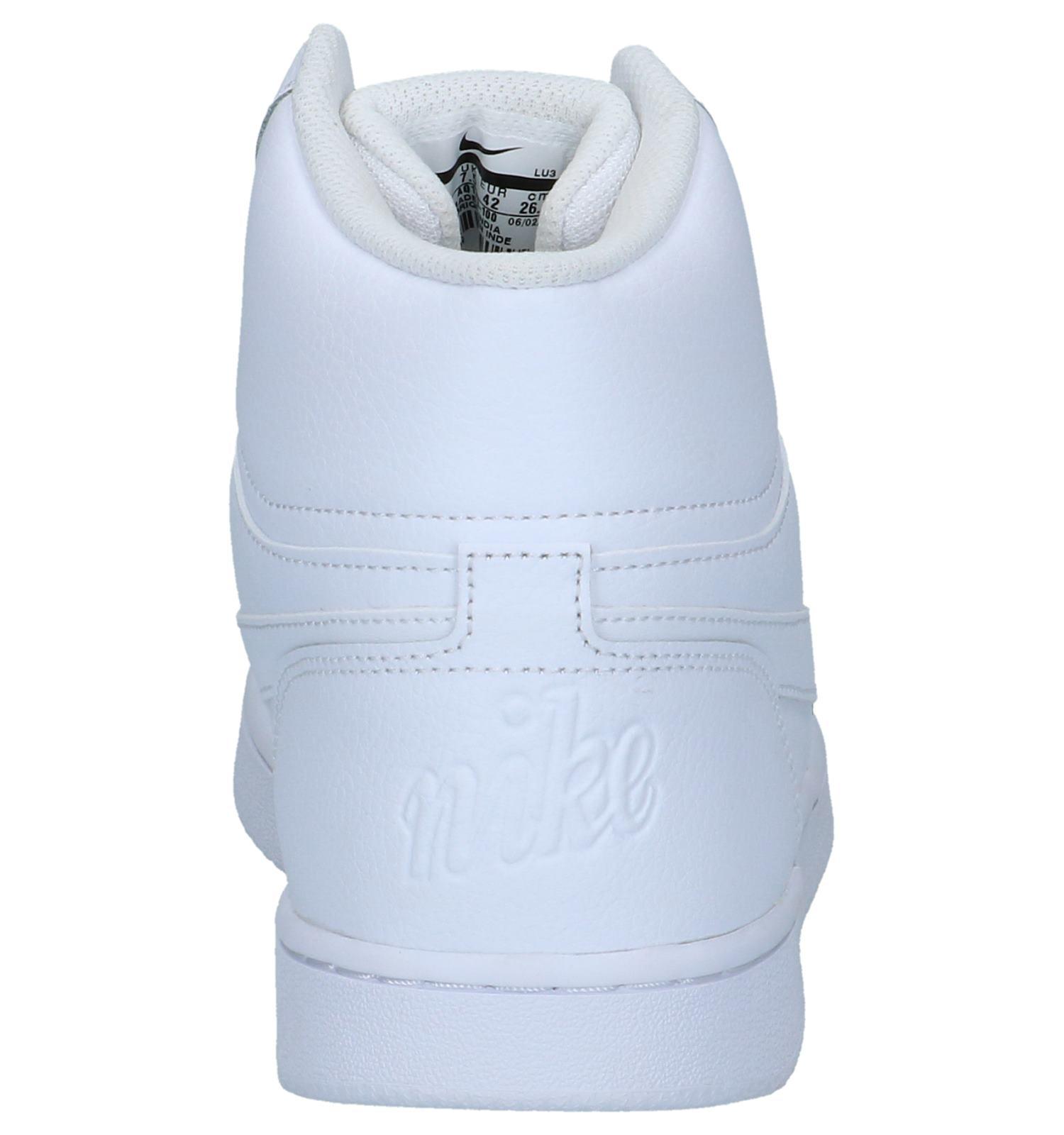 nike sneakers dames hoog wit