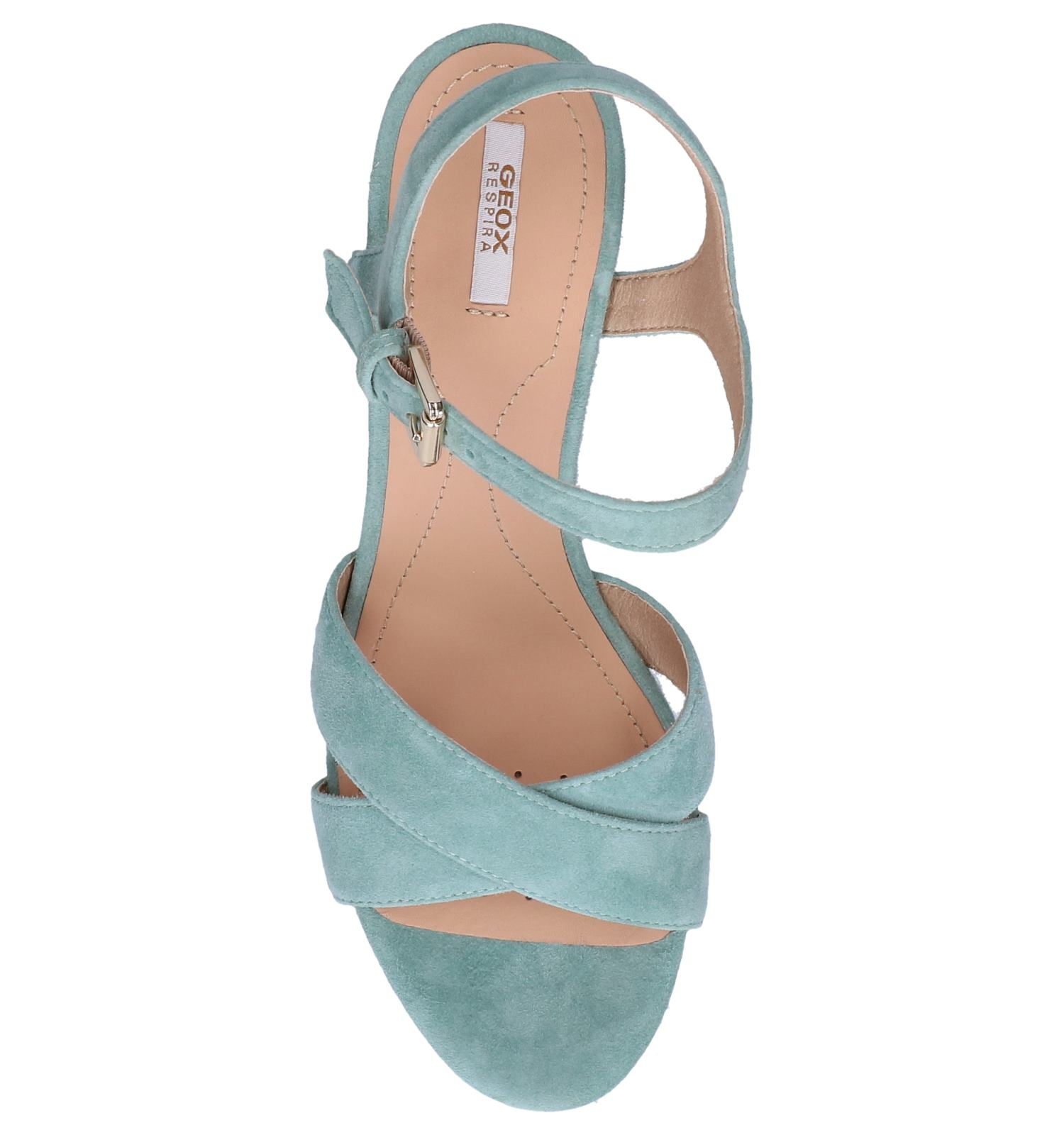 chaussures talons geox turquoise