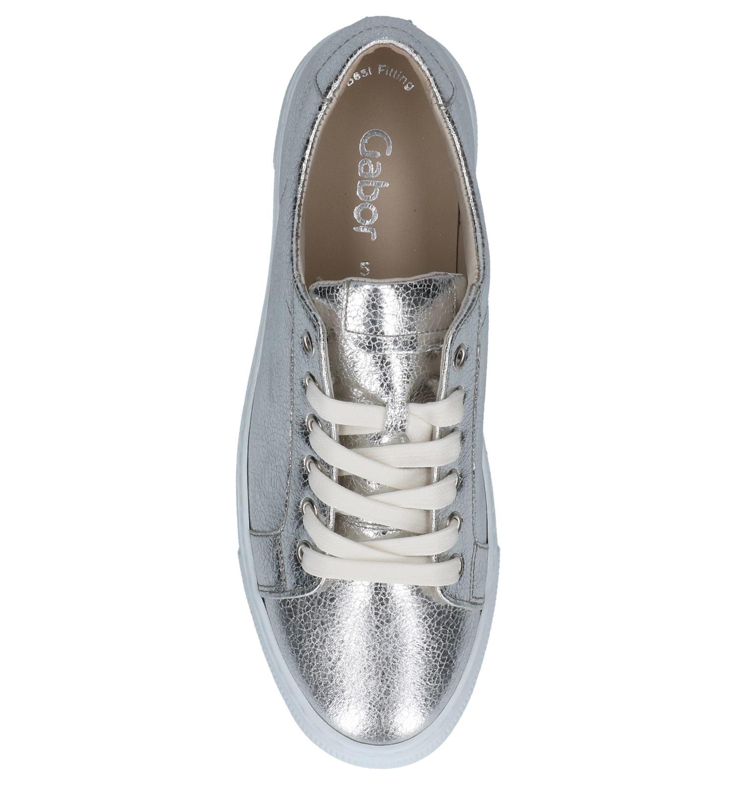 5cec937aab1 Lage Geklede Sneakers Zilver Gabor Best Fitting | TORFS.BE | Gratis verzend  en retour
