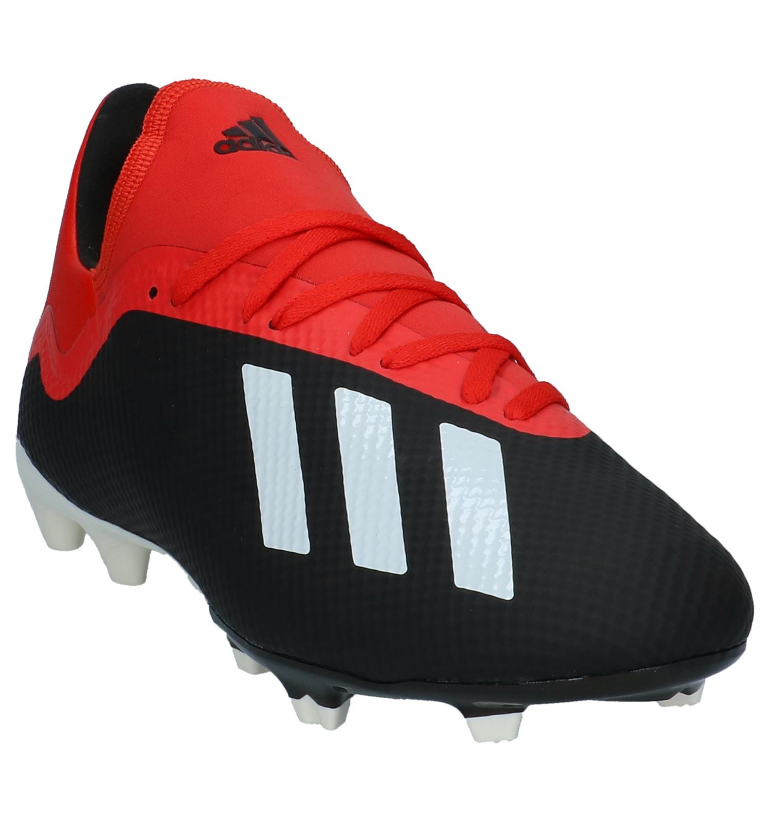8a90c35232c Zwart/Rode Voetbalschoenen adidas X 18.3 FG | TORFS.BE | Gratis verzend en  retour