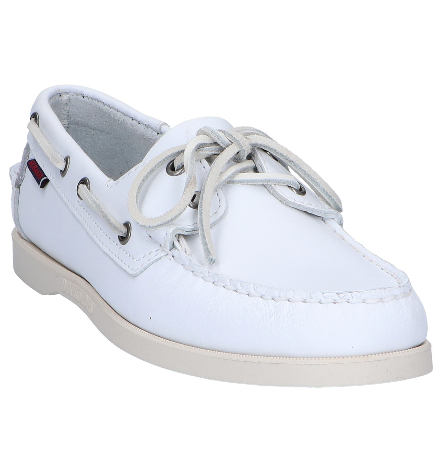 Witte Bootschoenen Sebago Dockside | TORFS.BE | Gratis