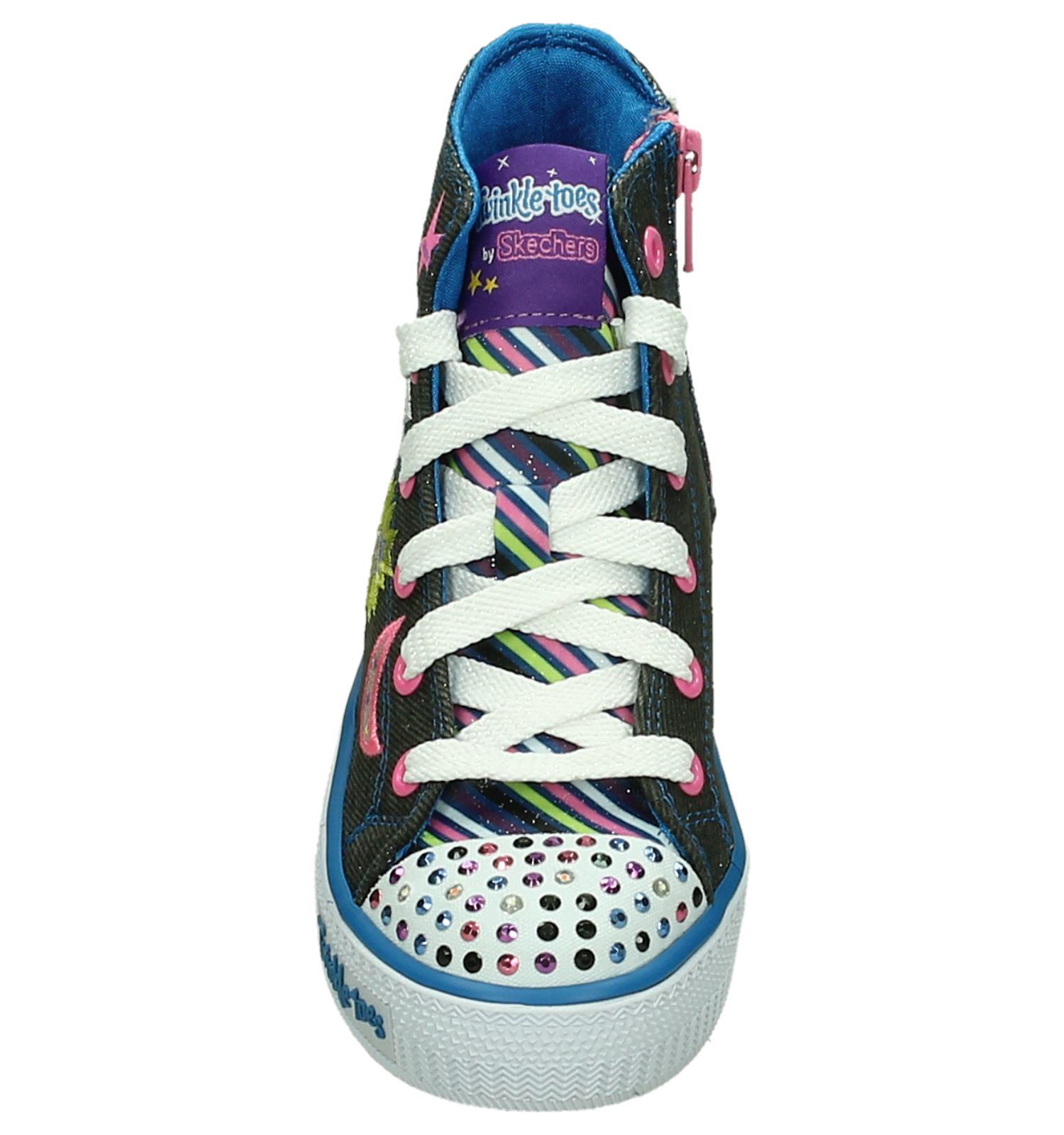 Skechers Shuffles Twist Grijze Sneakers met Lichtjes | TORFS
