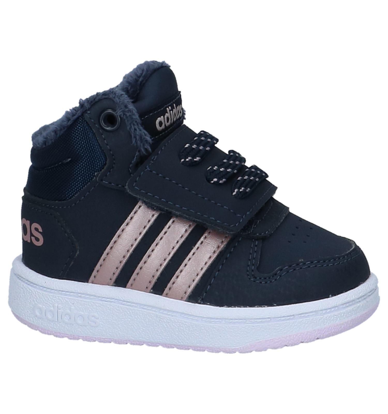 Sneakers reso Torfs gratuiti alte Adidas be di Hoops Spedizione e blu scuro rrZvq