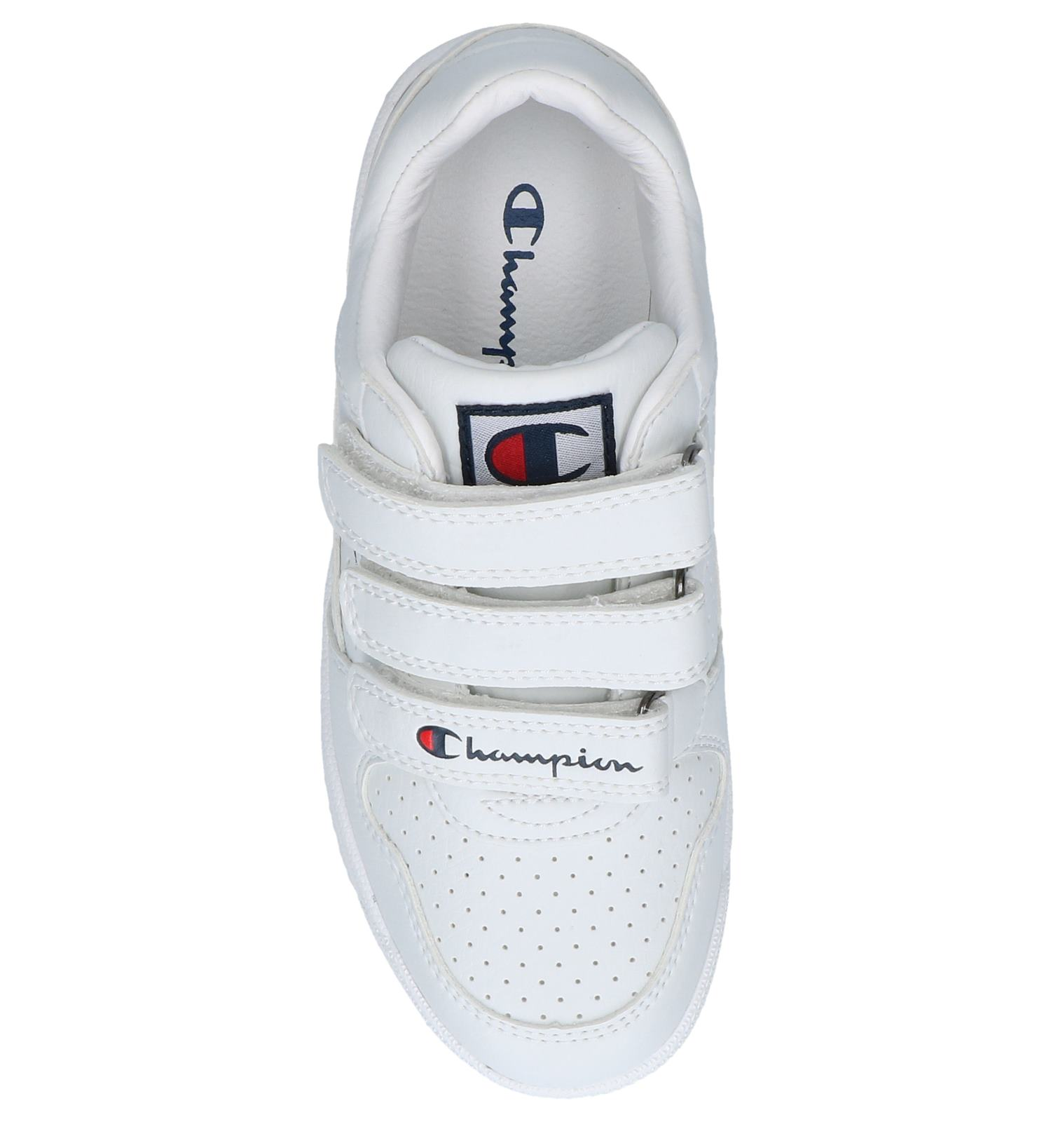 84b18737b83 Witte Sneakers Champion Chicago Basket Velcro Low