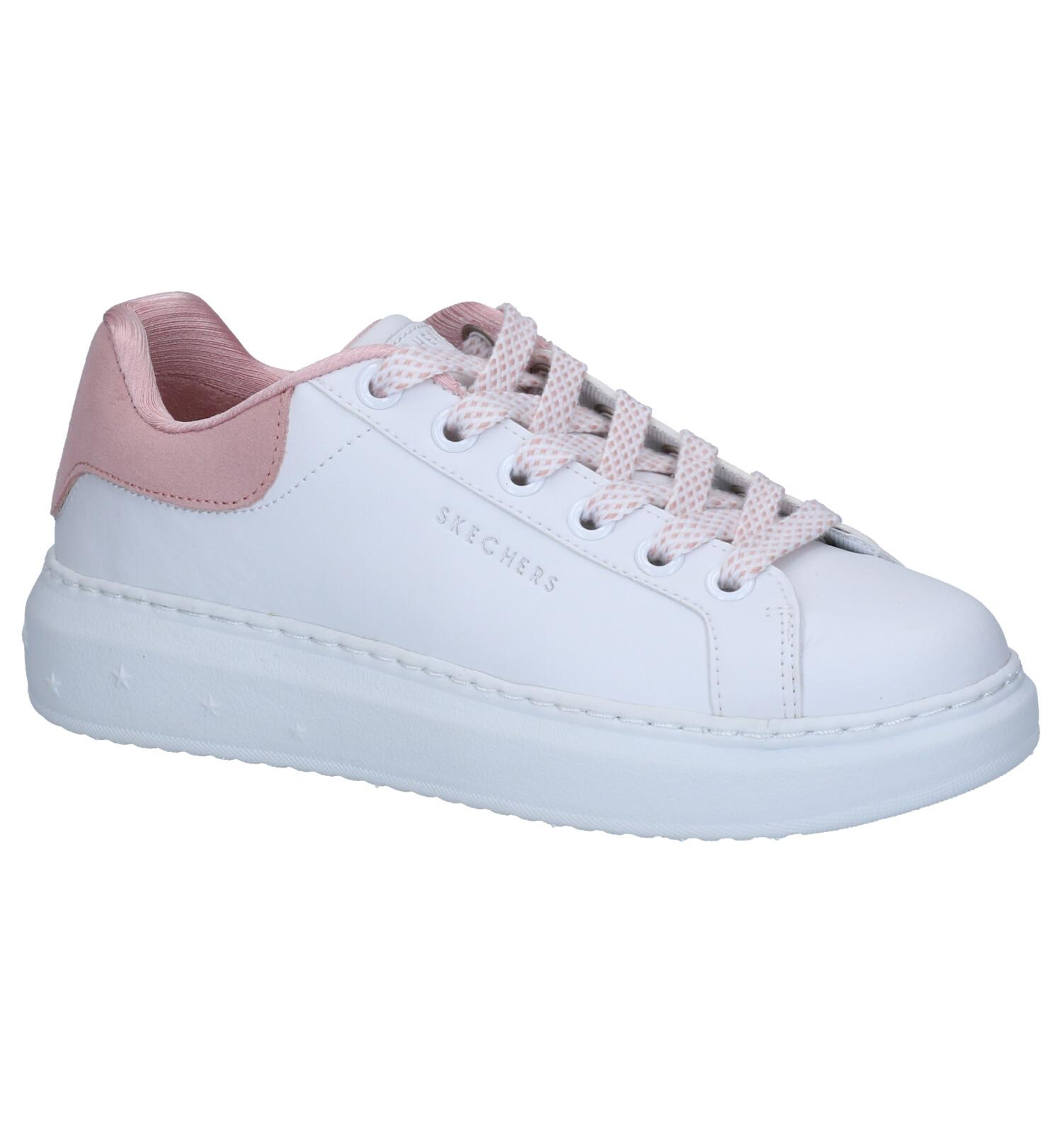 Skechers High Street Dotted Line Witte Sneakers   TORFS.BE   Gratis verzend en retour