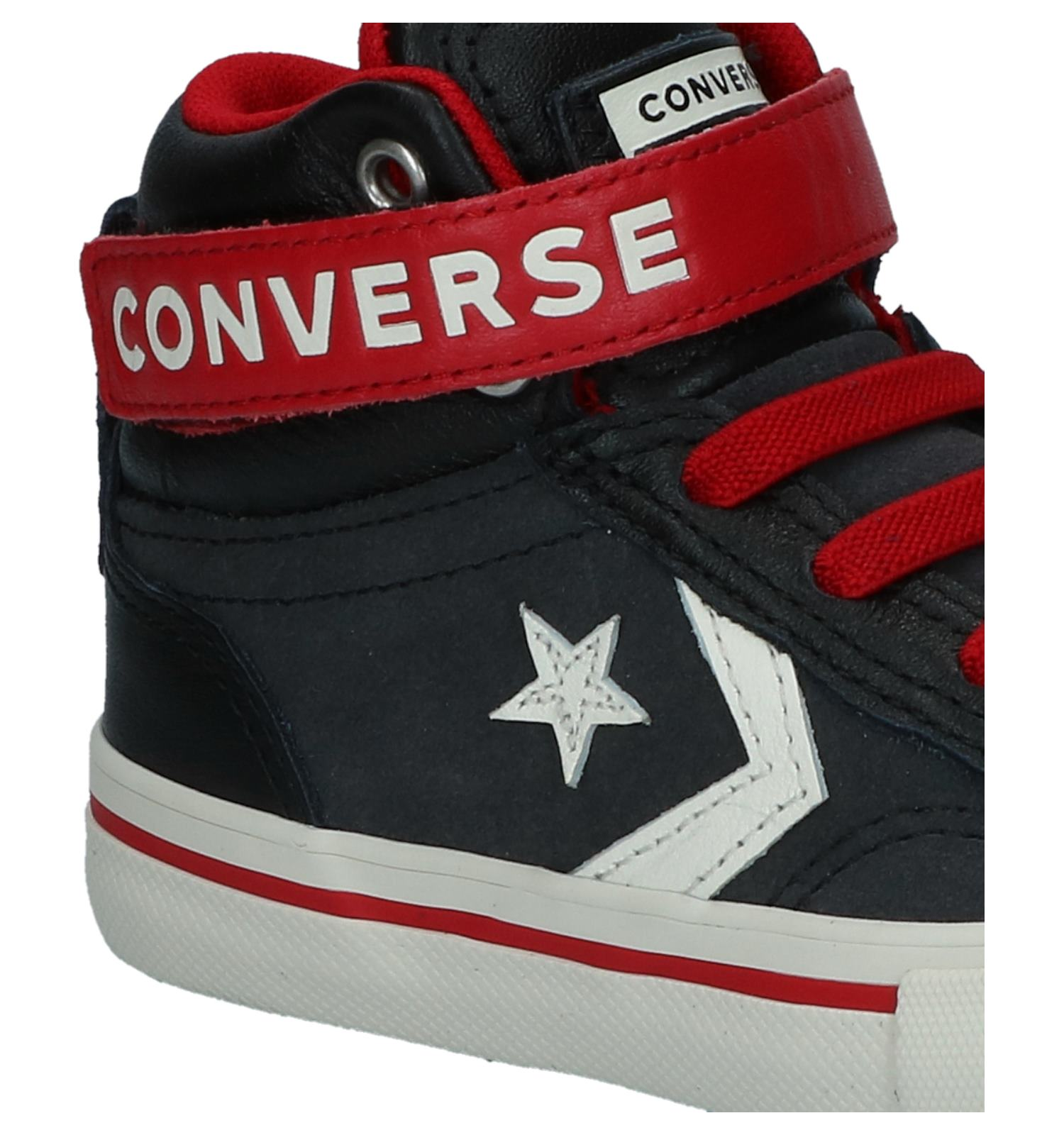 Zwarte Hoge Sneakers Converse Pro Blaze Strap Hi | TORFS.BE