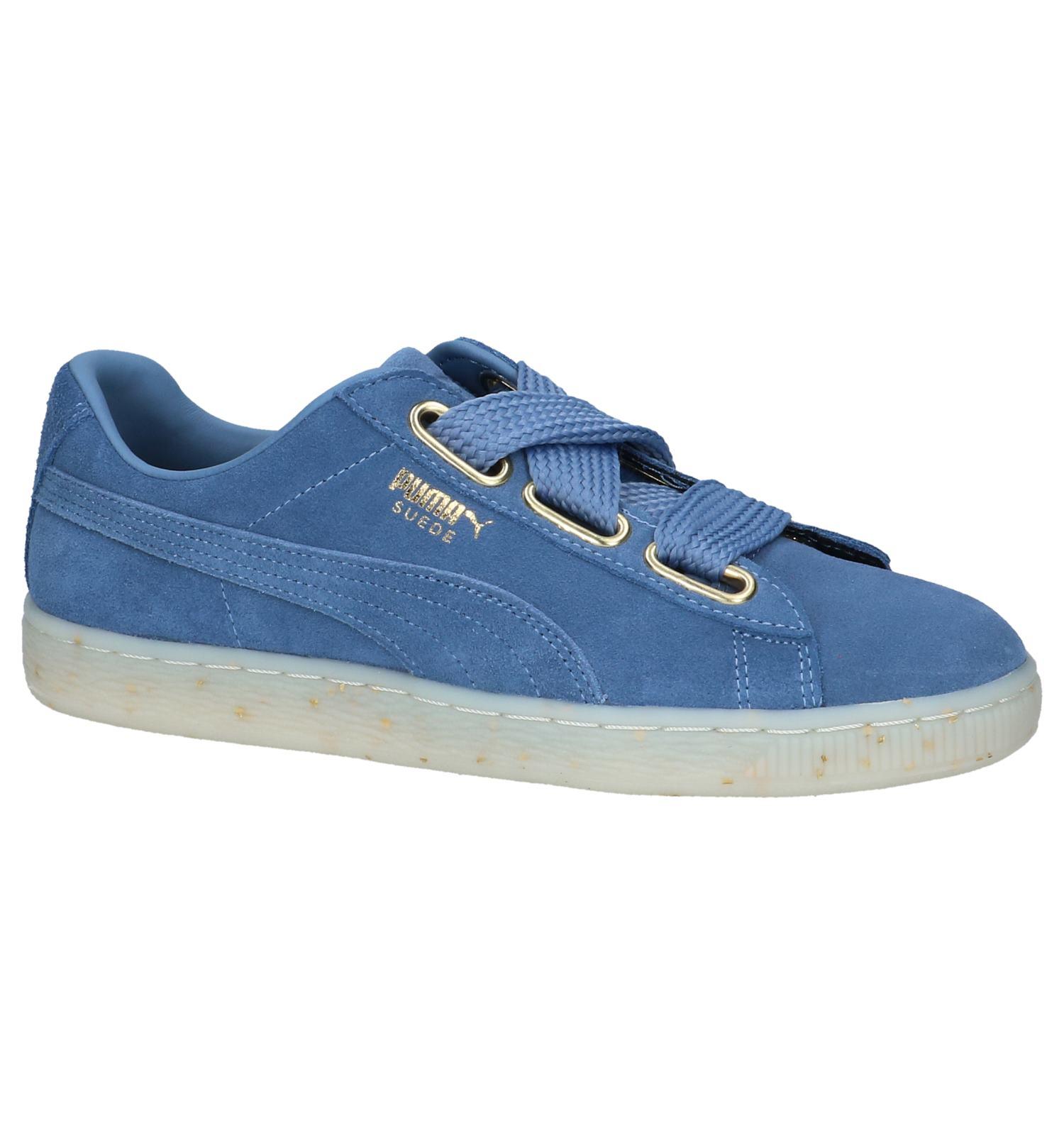 99ef33c8717 Blauwe Lage Sportieve Sneakers Puma Suede Heart | TORFS.BE | Gratis verzend  en retour