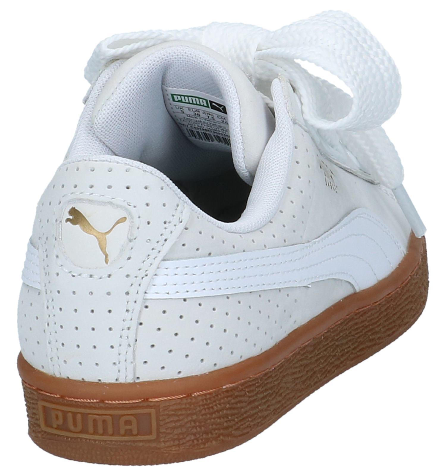 Puma Basket Heart Baskets basses en Blanc | TORFS.BE
