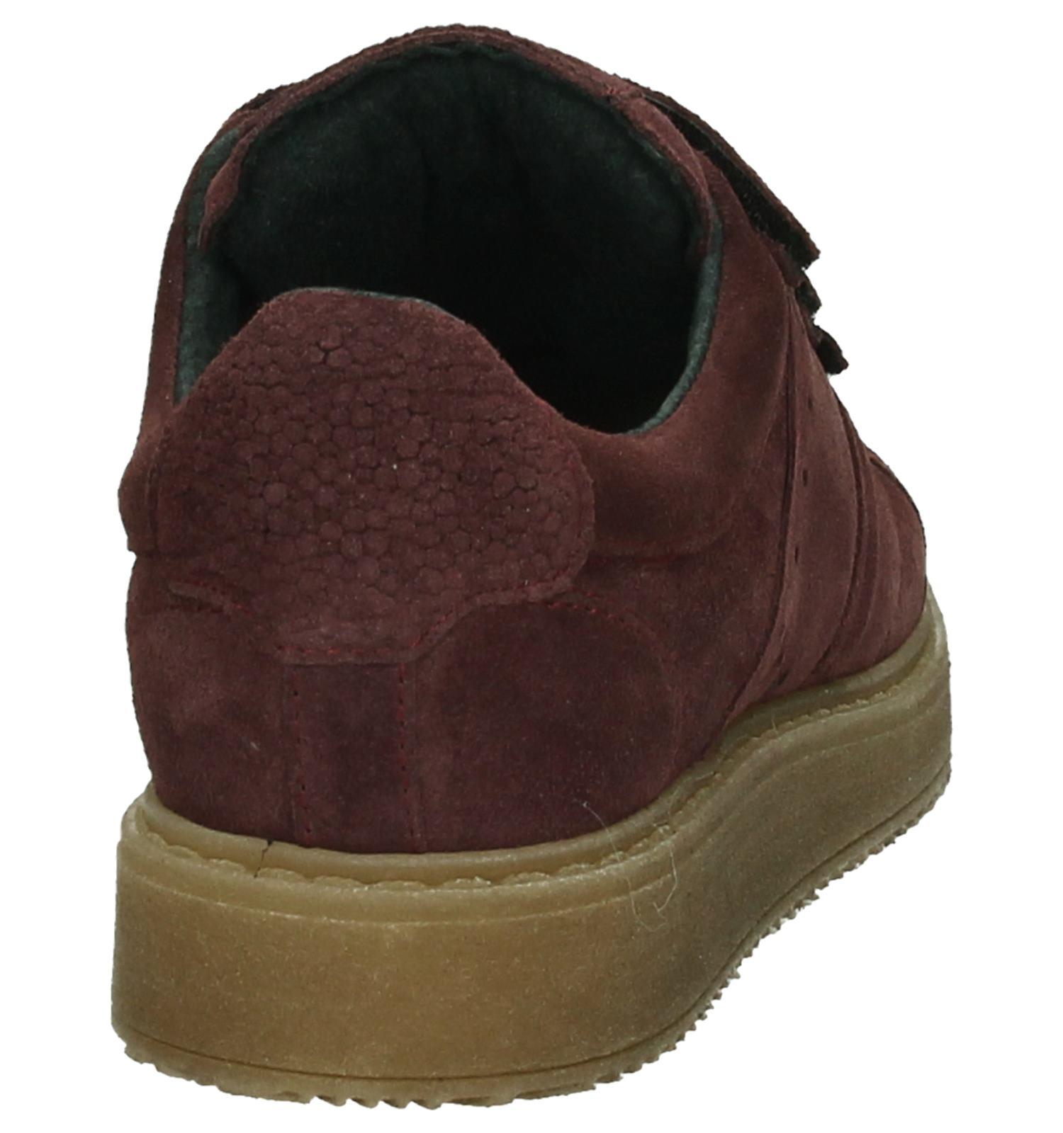 Gratis Sneakers Bordeaux be Shoecolate Velcro Torfs Verzend Met AYCYxq