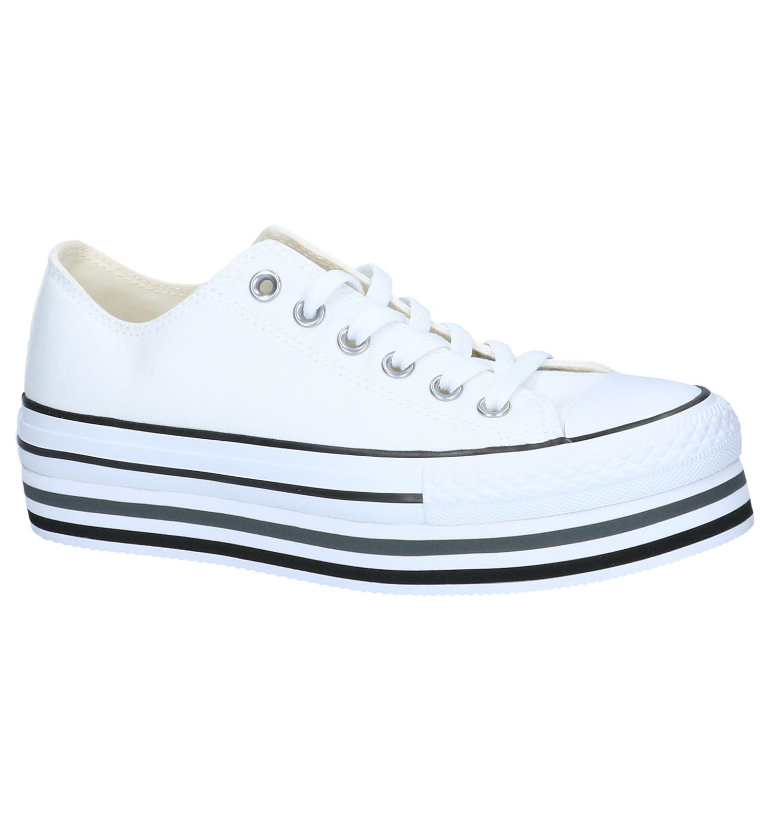 63c5fc72e72 Witte Sneakers Converse All Star Chuck Taylor Platform Layer   TORFS.BE    Gratis verzend en retour