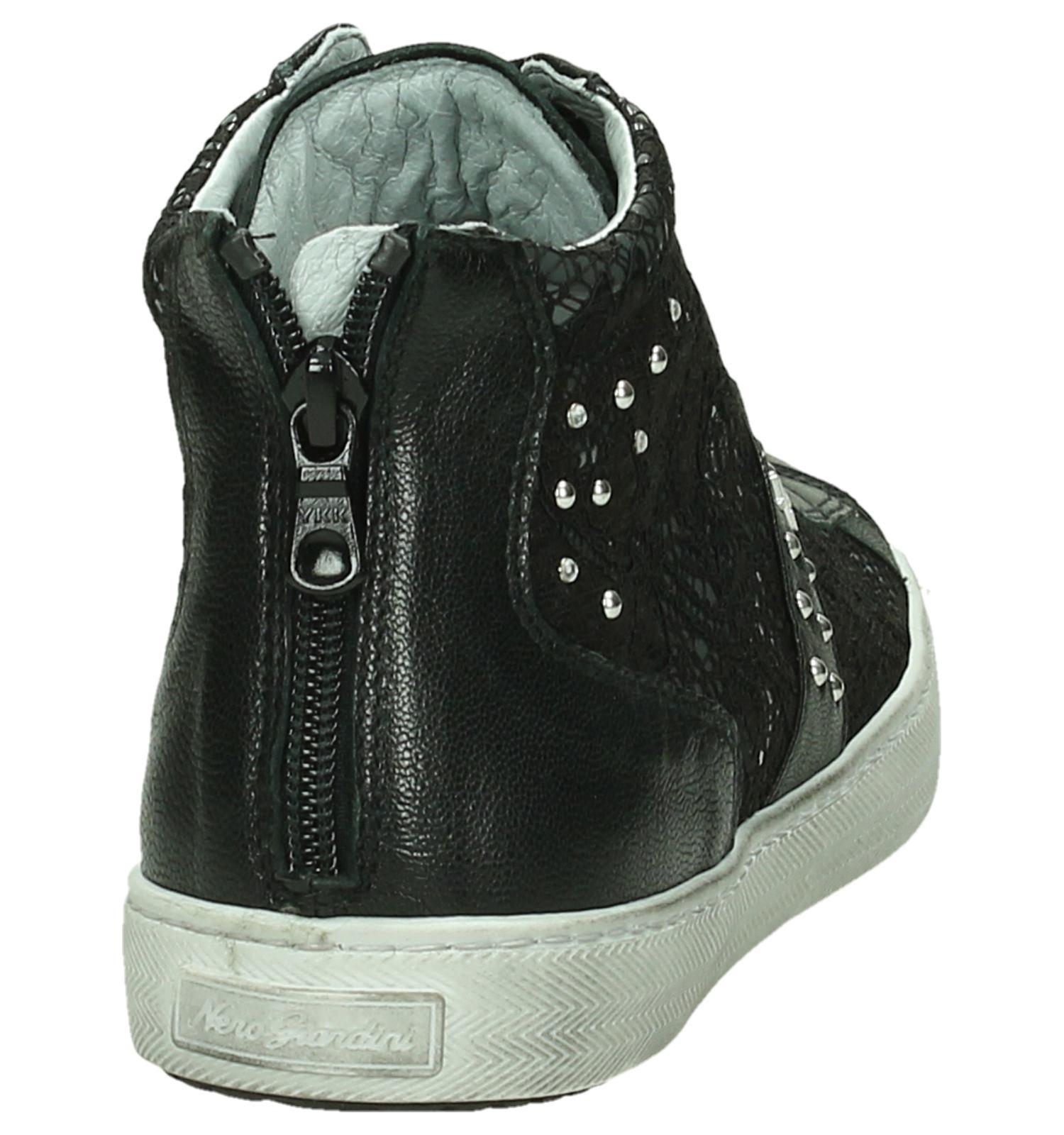2c18b474dc5 NeroGiardini Hoge Sneaker Zwart met Kant   TORFS.BE   Gratis verzend en  retour