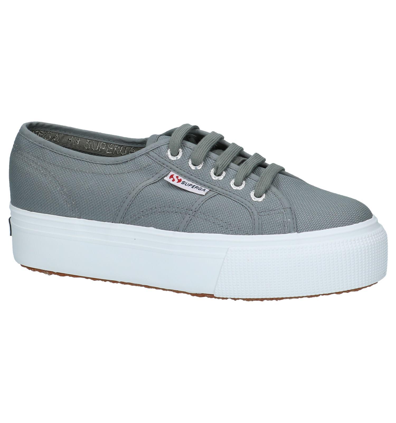 e362f1c1640 Sneakers met Plateauzool Superga Grijs | TORFS.BE | Gratis verzend en retour