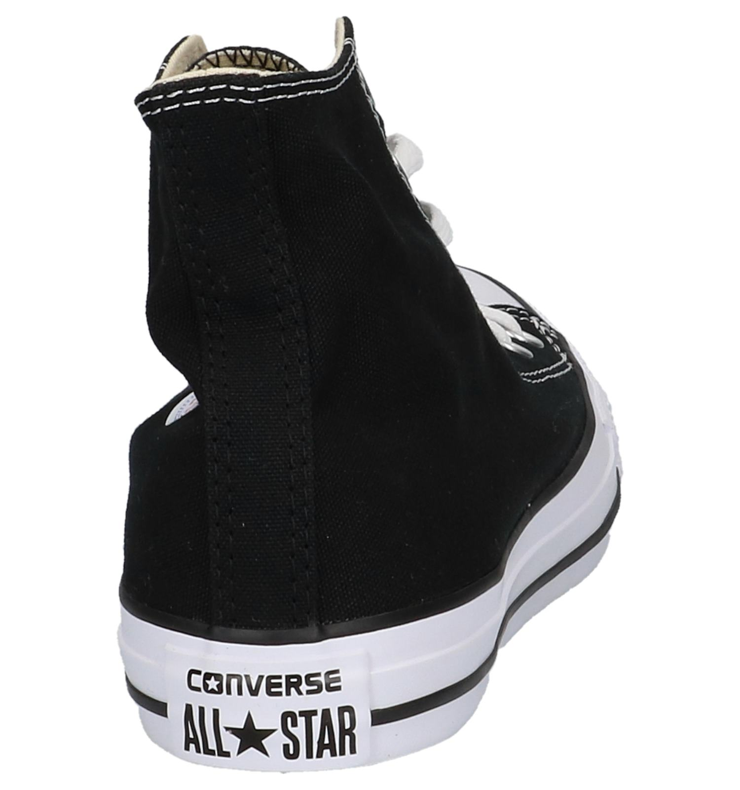 zwarte hoge converse all stars
