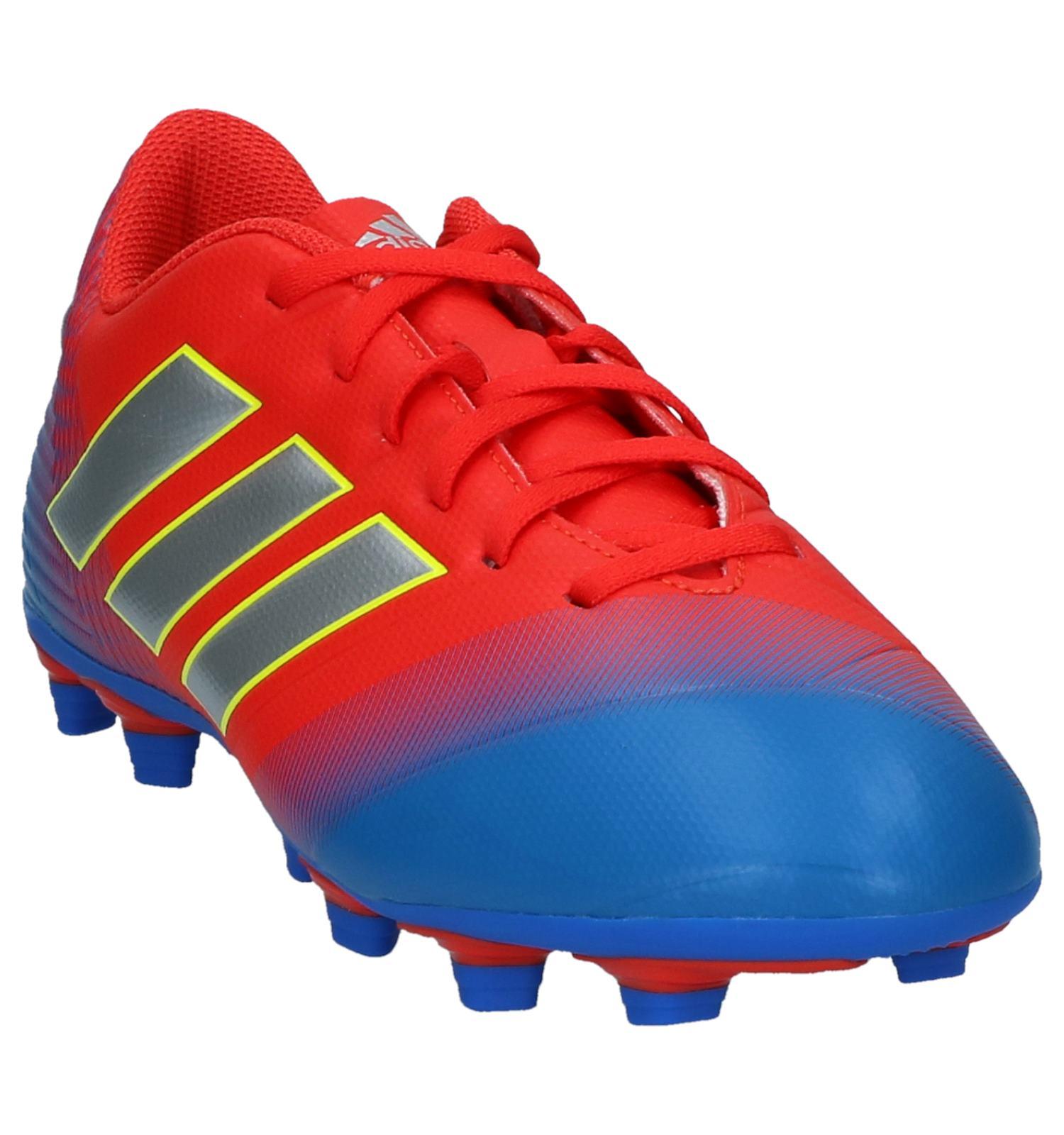 9927ef15ad4 Rood/Blauwe Voetbalschoenen adidas Nemeziz Messi 18.4   TORFS.BE   Gratis  verzend en retour