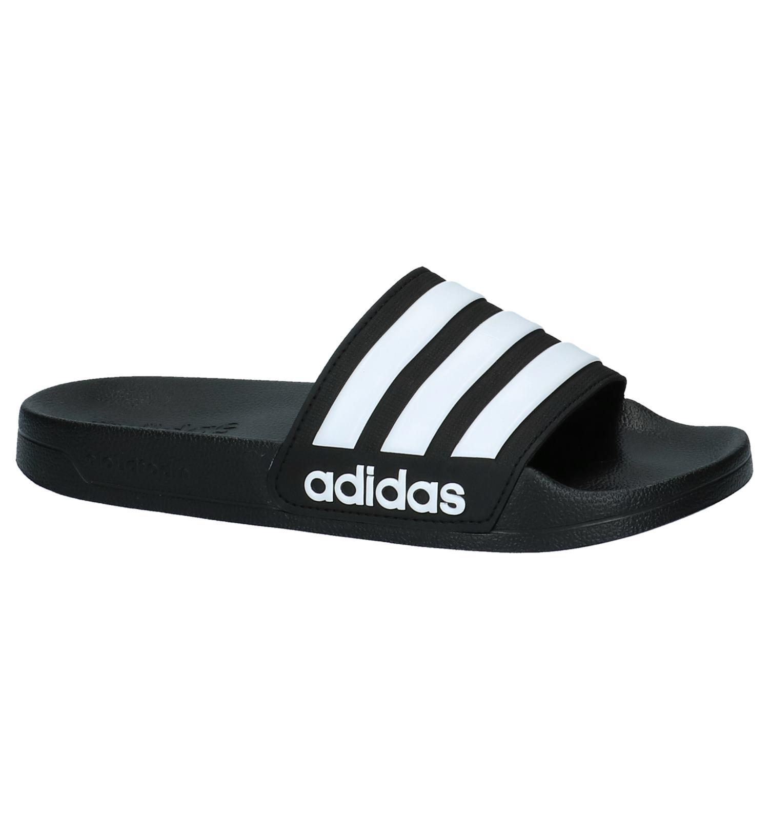 adidas slippers cloudfoam blauw