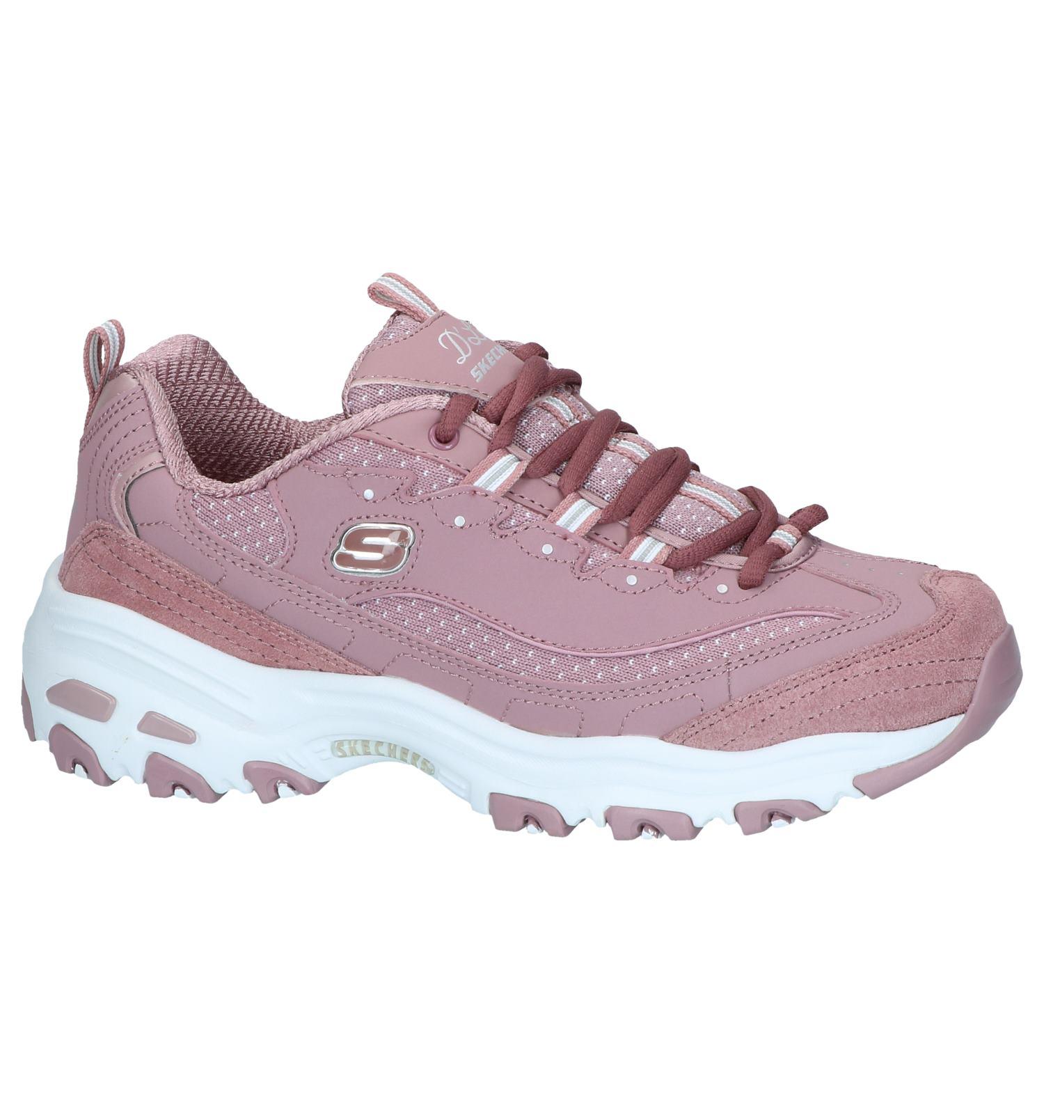 Paarse Sneakers Skechers D'Lites Polka Nite | TORFS.BE | Gratis verzend en retour